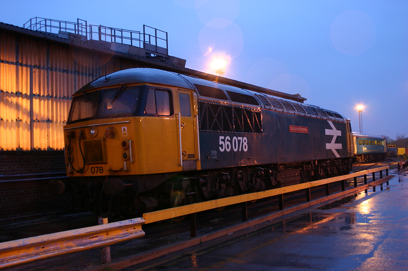 56078 in open storage at Knottingley TMD 16-04-04