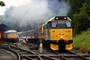 31271+D832 make a smoky depature from Oxenhope on 20th June 2004 with the 17:25 Oxenhope to Keighley