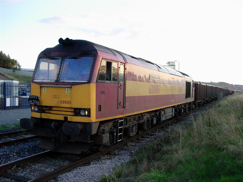 60005 at Blackburn with 6M79 Redcar to Clitheroe Box Coal on 16/09/2005  Photo Chris Horner