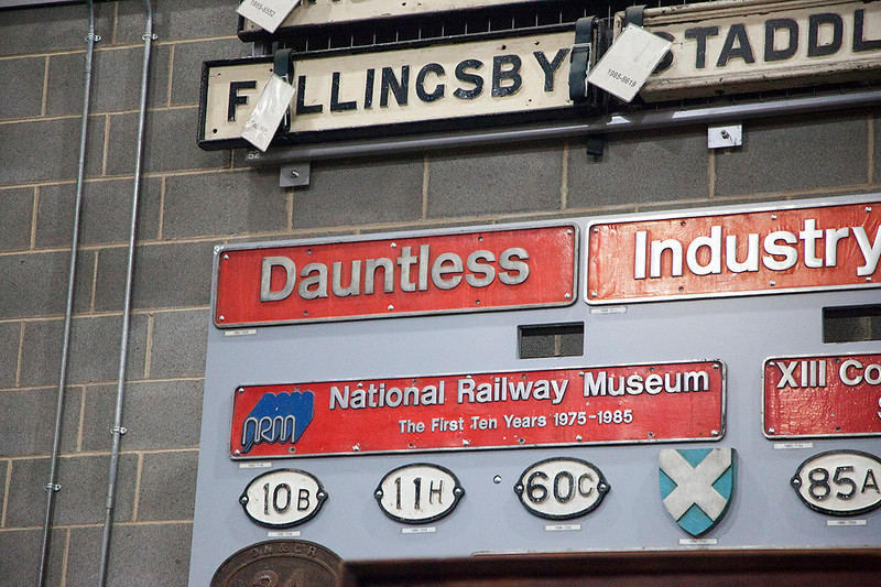 One of the best nameplates in the NRM :-0<br />  50048 Dauntless on 1st February 2015