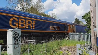 66770 tnt 56081  6377_720554_6376 Passes Bedford at 1431/5Q70 11:01 Derby Litchurch Lane to Wembley TC   19/05/21