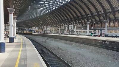 60085 passes through York Station at 0905/6H12 Tyne Dock to Drax Biomass working  23/06/21