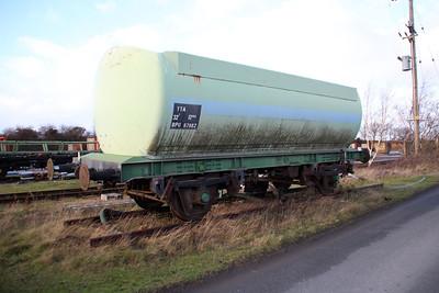 Extant BPO TTA 67982 seen at Great Heck Plasmor sidings 27/12/13.