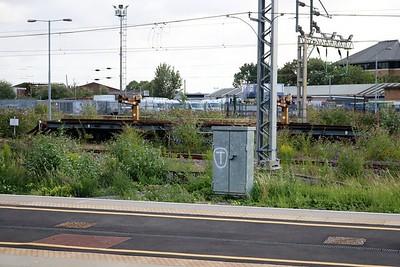 024780/M748029 50t Bogie Long Flat at Watford Junction Yard    10/08/19