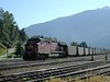 General Electric AC4400CW : Canadian Pacific Railroad CP 9668 coal train in the yards at Revelstoke. BC.<br /> <br /> 11 September 2002
