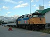 VIA Rail Loco No: 6437 -  GMD F40PH-2 - resting between duties at Jasper, Alberta.<br /> <br /> 12 September 2002