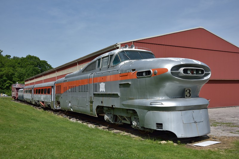 Chicago, Rock Island & Pacific 'Aerotrain ' No.3<br /> built by EMD in 1955 it was withdrawn in 1966 after a fairly short service life.<br /> <br /> The Museum of Transportation St Louis.MO.<br /> 19 May 2015