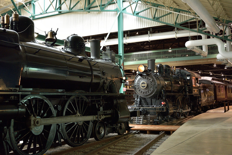 Pennsylvania Railroad Class D16sb  4-4-0 No. 1223 built at  Juniata works in 1905 as works No.1399<br /> <br /> Railroad Museum of Pennsylvania, Strasburg. PA<br /> 9  May 2015