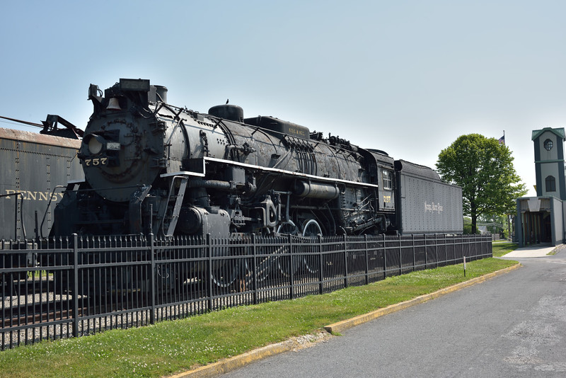 Former New York, Chicago & St. Louis Class S-2 Berkshire 2-8-4 No.757<br />  built by Lima in 1944<br /> <br /> Railroad Museum of Pennsylvania<br /> Strasburg. PA