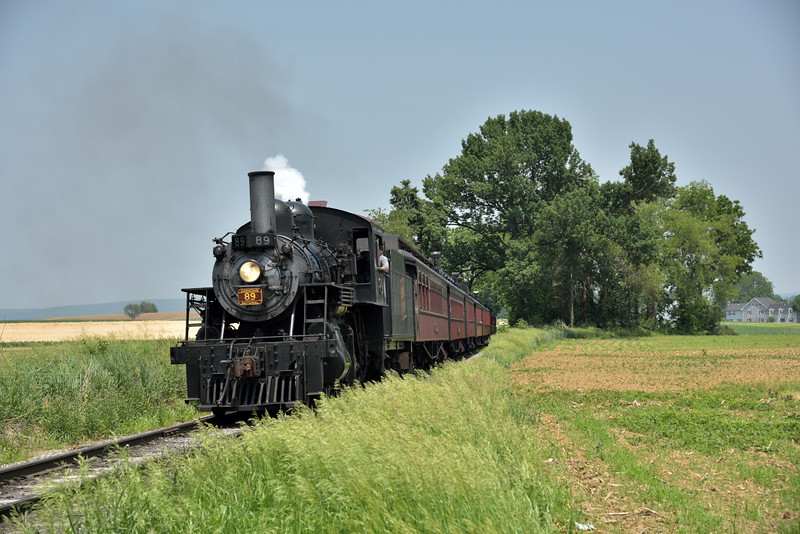 Strasburg Rail Road 89, built in 1910 by the Canadian Locomotive Company<br /> <br /> Railroad Museum of Pennsylvania<br /> Strasburg. PA