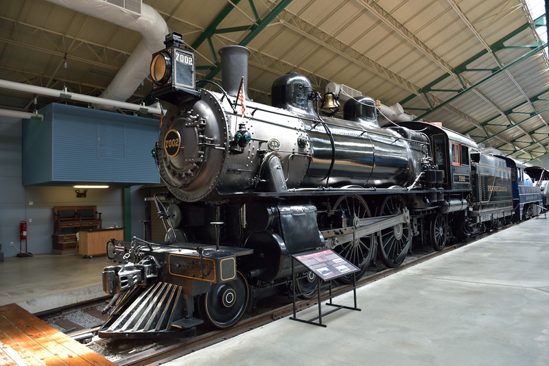 PRR Class E7s 4-4-0 No.7002 built 1902<br /> <br /> Railroad Museum of Pennsylvania<br /> Strasburg. PA