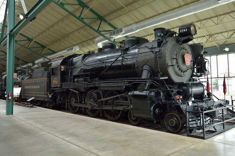 Pennsylvania Railroad Class G5s 4-6-0 No. 5741 <br /> built at Juniata in1924 as works No. 3966<br /> <br /> Railroad Museum of Pennsylvania, Strasburg. PA<br /> 9  May 2015