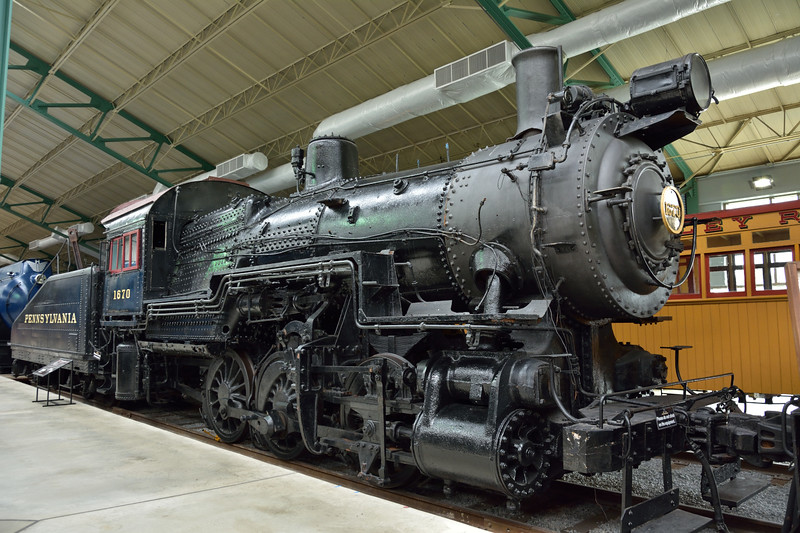 Pennsylvania Railroad Class B6sb 0-6-0 No. 1670 <br /> Works No.3042 built in 1916 at Juniata works. <br /> <br /> Railroad Museum of Pennsylvania, Strasburg. PA<br /> 9  May 2015