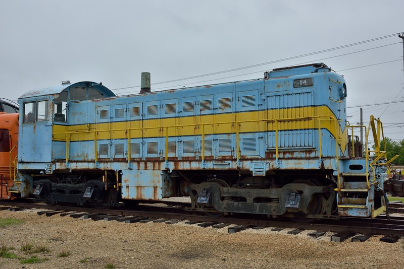 Former Dardanelle & Russellville Model SC Diesel Electric  No.14<br /> Built in 1937 by EMC<br /> <br /> Illinois Railway Museum.<br /> 20  May 2015