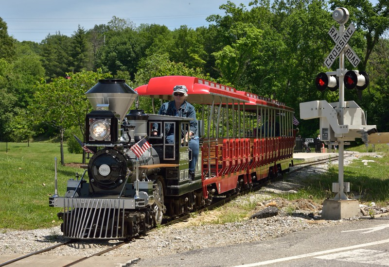 Replica 1863 4-2-4 C.P. Huntington  Loco No.340<br /> <br /> The Museum of Transportation St Louis.MO.<br /> 19 May 2015