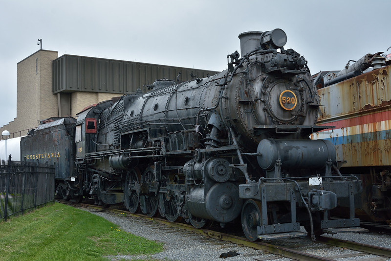 Pennsylvania Railroad Class L-1s 2-8-2 No. 520 <br /> Built by Baldwin in 1916 as works No.44565<br /> <br /> Railroad Museum of Pennsylvania, Strasburg. PA<br /> 9  May 2015