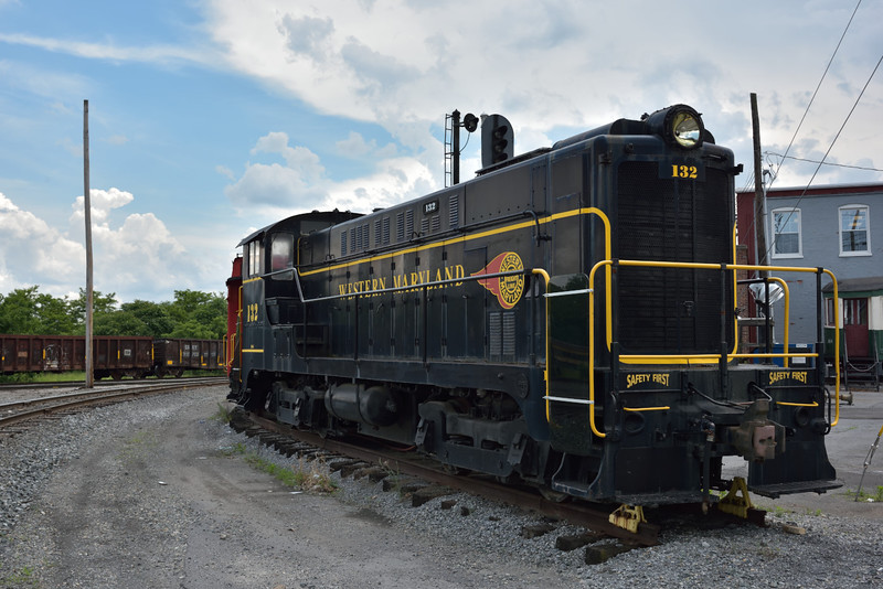 Western Maryland No.132<br /> Type VO1000 switch loco<br /> <br /> Hagerstown Roundhouse Museum.