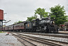 Strasburg Railroad Class E-10-a 2-6-0 No.89 arrives at Strasburg <br /> No.89 was originally built in 1910 and is an  Ex Canadian National loco now preserved at Strasburg.<br /> <br /> 9  May 2015