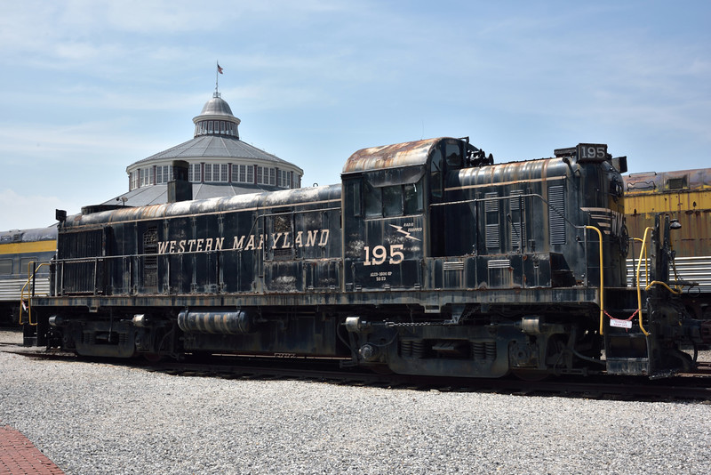 Western Maryland Railway ALCO model RS-3 No.195<br /> Originally built in 1953 and withdrawn 1976.<br /> <br /> B&O Railroad Museum Baltimore<br /> <br /> 8 May 2015
