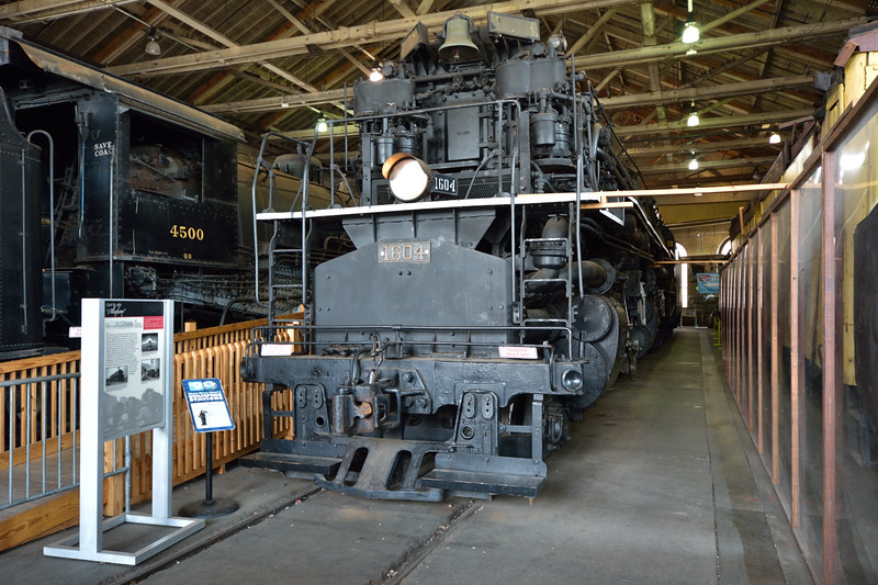 """Chesapeake & Ohio Railway 2-6-6-6 Allegheny  No.1604<br /> built by LIMA in 1941 <br /> The """"Allegheny"""" locos were one of the heaviest and most powerful American-built steam locos ever built.<br /> <br /> B&O Railroad Museum  Baltimore<br /> 8  May 2015"""