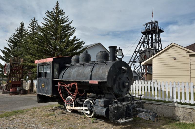Former Anaconda Copper built Davenport 0-4-0STNo.122<br /> Built in 1916 works number 1555<br /> <br /> World Museum of Mining, Butte, MT