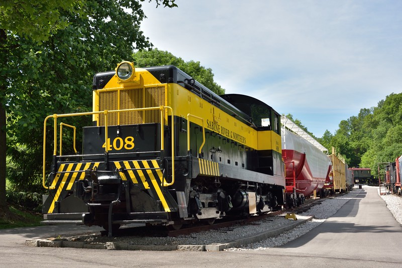 Sabine River & Northern shunter No.408 built by EMC in 1937<br /> <br /> The Museum of Transportation St Louis.MO.<br /> 19 May 2015