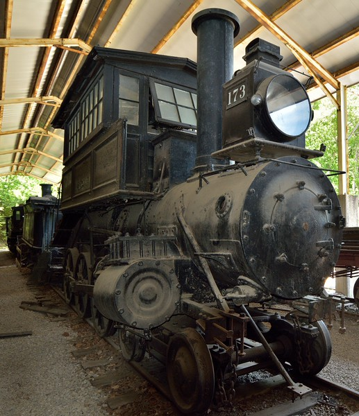 B&O Camelback No.173. built in 1873 by the B&O Mount Clare Shops<br /> Now awaiting restoration<br /> <br /> St Louis Museum of Transportation<br /> 19 May 2015