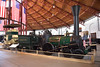 "This replica 4-2-0 ""Lafayette"" was built at the Mt. Clare workshops in 1927.<br /> The original ""Lafayette"" had been built in 1837 as the first horizontal boilered locomotive built for the B&O,<br /> <br /> B&O Railroad Museum Baltimore<br /> <br /> 8 May 2015"