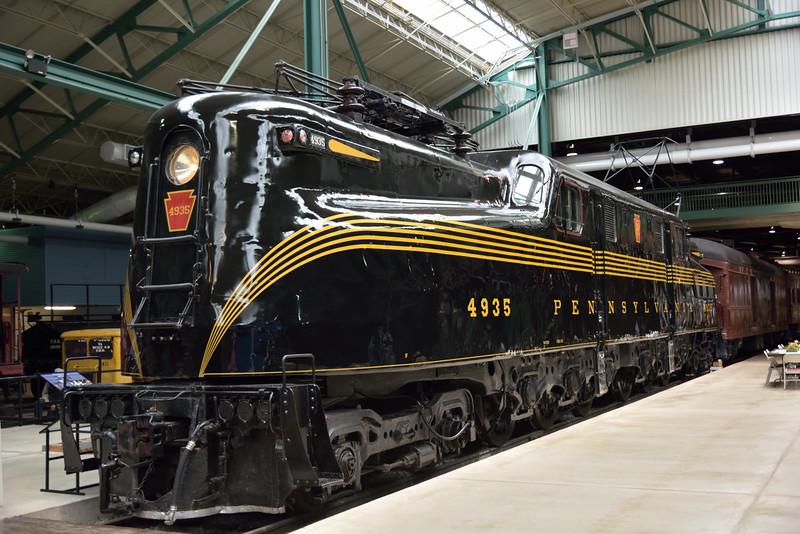 Pennsylvania Railroad GG1 No.4935 built in 1943<br /> <br /> Railroad Museum of Pennsylvania<br /> Strasburg. PA