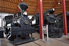 """Central Railroad of New Jersey(CNJ) 4-4-2 """"Atlantic Camelback"""" No. 592 shares the roundhouse with Greenbrier, Cheat & Elk Railroad Three Cylinder """"Shay""""No.1<br /> <br /> B&O Railroad Museum  Baltimore<br /> 8  May 2015"""