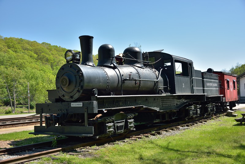 Cass Scenic Railroad Feather River Shay No.3<br /> on static display at Cass. WV.<br /> <br /> <br /> 13 May 2015