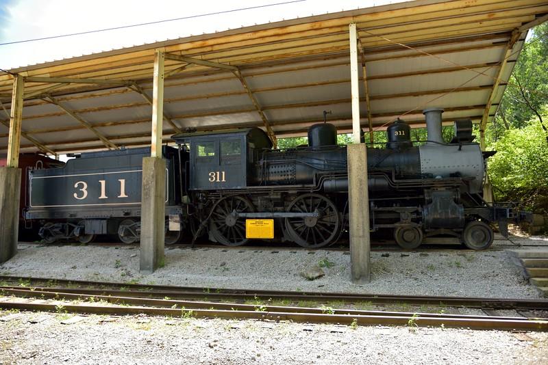 Missouri-Kansas-Texas 4-4-0 No.311  originally built by Baldwin in1890 Works No.10694 <br /> <br /> The Museum of Transportation St Louis.MO.<br /> 19 May 2015