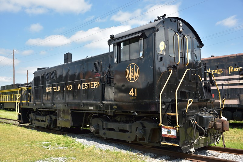 Norfolk & Western Alco T6 No.41, built 1959 saw service with Chesapeake Western Railway and was withdrawn in 1985.<br /> <br /> Virginia Museum of Transportation <br /> Roanoke. VA<br /> <br /> <br /> 14 May 2015