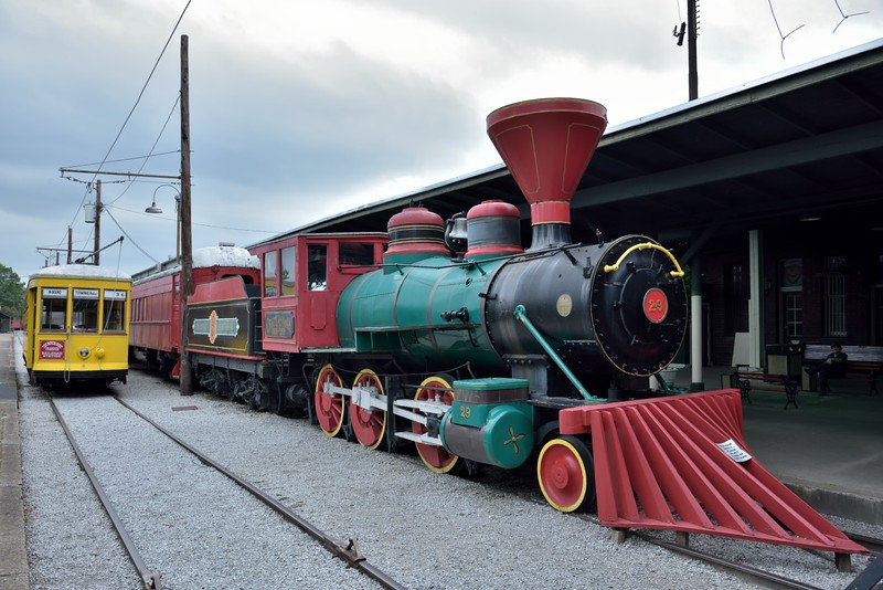 THE Chattanooga 'Choo Choo' decorated as Cincinnati Southern 2-6-0  No.29 <br /> Built by Baldwin in 1910 as works No.34964<br /> <br /> Chattanooga, TN.<br /> <br /> <br /> 16  May 2015