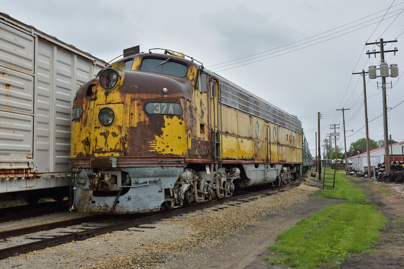 Chicago Milwaukee St. Paul & Pacific (Milwaukee Road) GM EMD Class E-9A 37A Built in 1961 <br /> <br /> Illinois Railway Museum.<br /> 20  May 2015