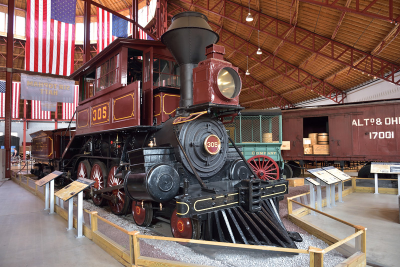 B&O  4-6-0 Davis Camel, No.305   Originally built in 1869<br />  <br /> An unusual design with the cab located above the boiler giving rise to the often used description of 'camel back' <br /> <br /> B&O Railroad Museum Baltimore<br /> <br /> 8 May 2015