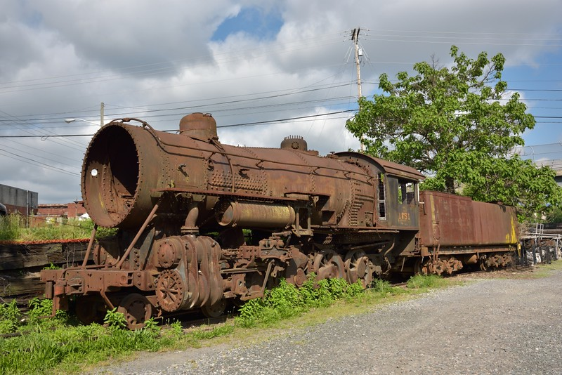 Norfolk & Western Class M2c 4-8-0  No.1151 <br /> Designed to haul heavy freight and coal over the Blue Ridge Mountains <br /> Now awaiting possible restoration as it sits just outside the museum yard at Roanoke.<br /> <br /> Virginia Museum of Transportation <br /> Roanoke. VA<br /> <br /> 14 May 2015