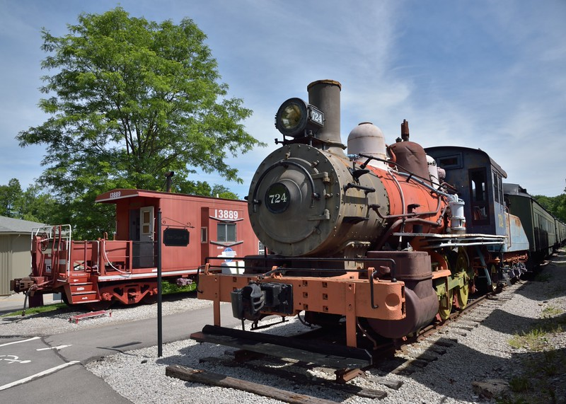 Georgia Railroad 0-6-0  No.724 built by Baldwin in 1896 works No.15038 <br /> When finally withdrawn in 1963 it was the last regularly operating steam loco in MO<br /> <br /> The Museum of Transportation St Louis.MO.<br /> 19 May 2015