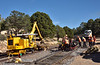 Permanent way work at the exit from the South Rim terminus<br /> <br /> Grand Canyon Railway<br /> South Rim, Grand Canyon