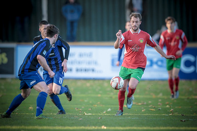 Will Hutton had a great game for Railway against Cleethorpes Town.