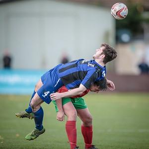 The Town midfielder fouls Paul Beesley