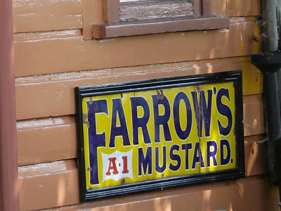Old Sign, Toddington Station [Farrows Mustard] 110724