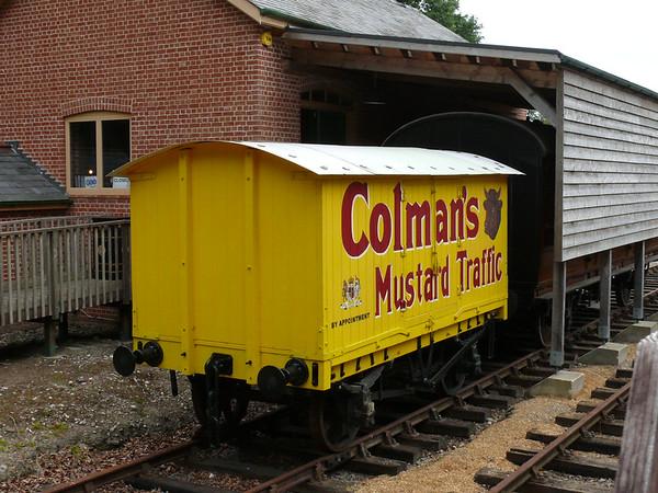 Goods Van, Holt Station [Colman's Mustard] 110616
