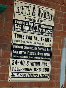 Old Sign, Sheringham Station [Blyth & Wright] 110909