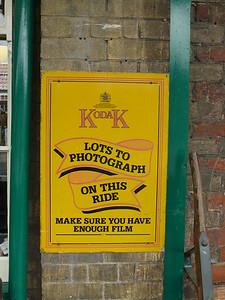 Old Sign, Sheringham Station [Kodak] 110616
