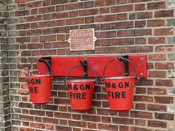 Fire Buckets, Sheringham Station 110616