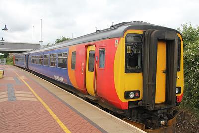 East Midlands Trains 156470 Hucknall Station Jun 18