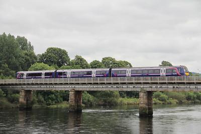 Scotrail 1704xx Crossing River Tay Aug 12