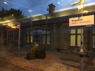 Caledonian Sleeper Kingussue Station from Lounge Aug 17