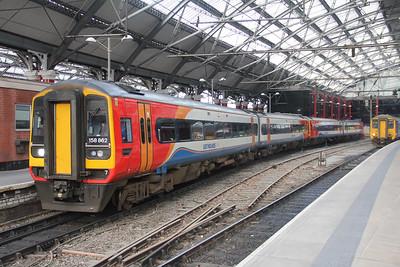 East Midlands Trains 158862 Liverpool Lime Street Station 1 Sep 17
